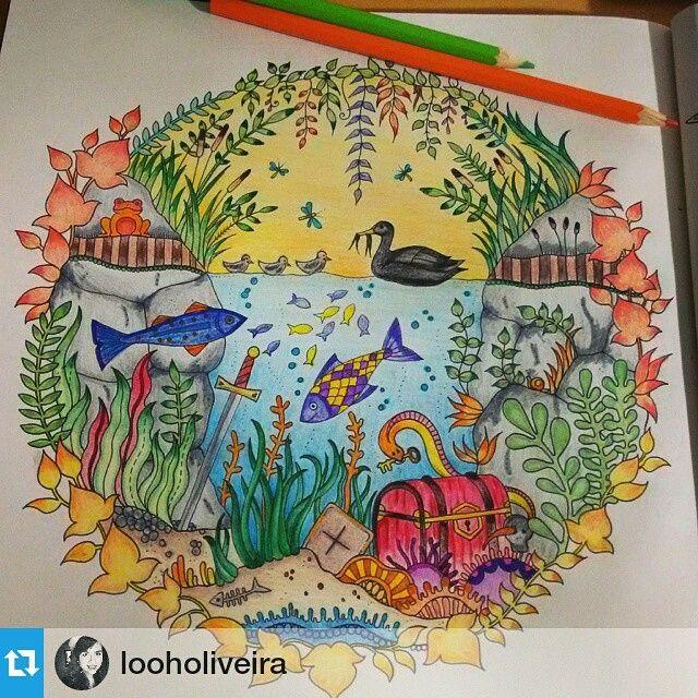 Floresta Encantada Aquario Johanna Basford