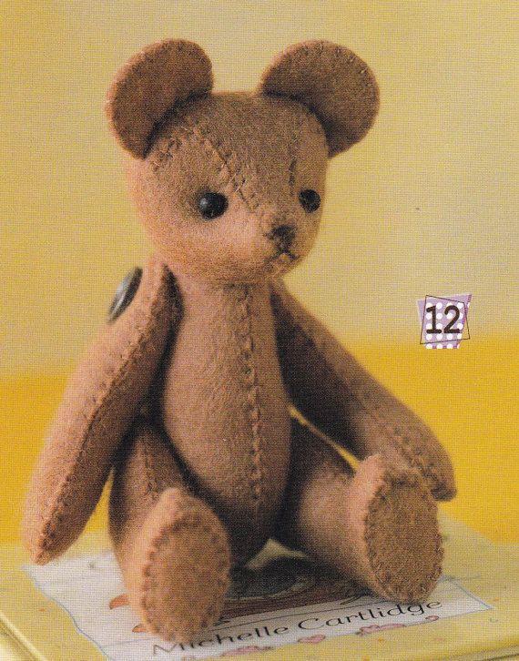 1 Easy Sewing Cute Felt Stuffed Teddy Bear with Movable ...
