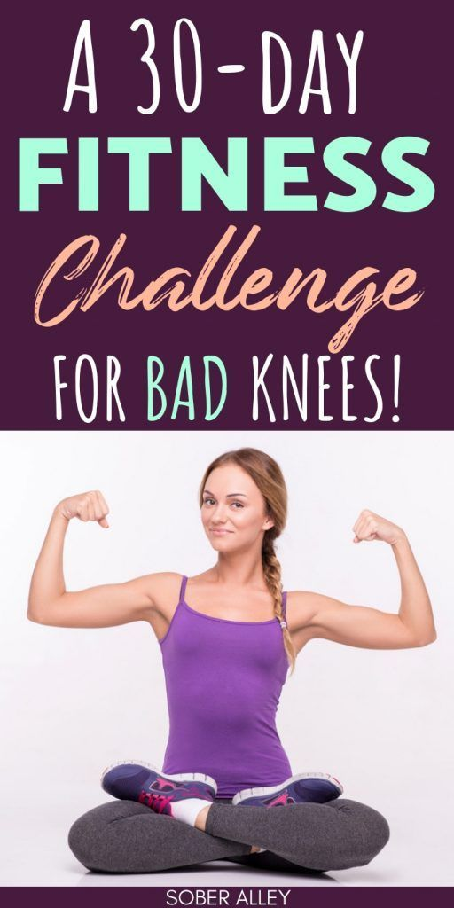 A 30-Day Fitness Challenge That's Easy On The Knees [June 2019]  30 Day Fitness Challenge: This 30-D...