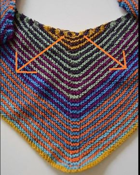 Strickanleitung: How to knit ein Halstuch in Dreiecksform – egal welche Wolle