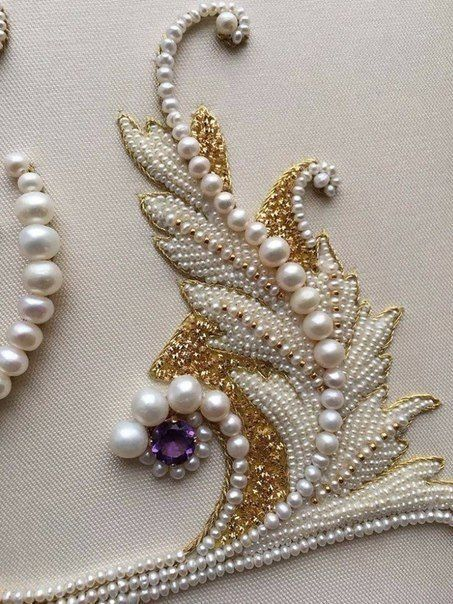 Pin By On Decor Pinterest Embroidery Beads