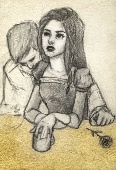 Denna from the Kingkiller Chronicles. Poor girl never gets a break.  Character from the