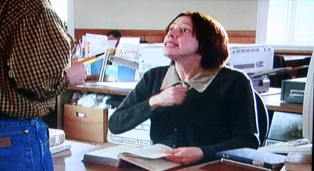 Reel Librarians | Allyce Beasley as Library Lady in '2 Brothers and a Bride' (2003)