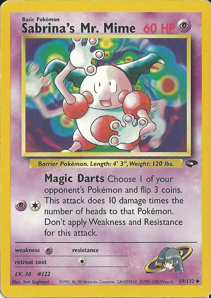 Pokemon Rot Karte.Sabrina S Mr Mime Pokemon Card Pokémon
