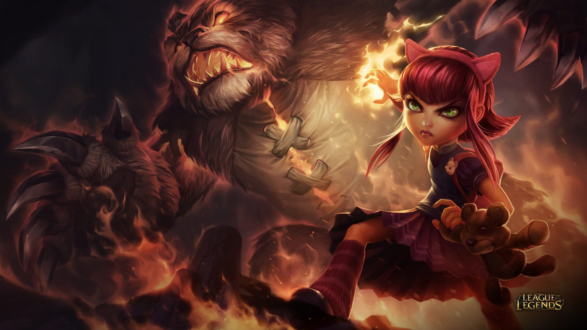 League Of Legends Wallpaper Pack 1080p Hd In 2019 Annie