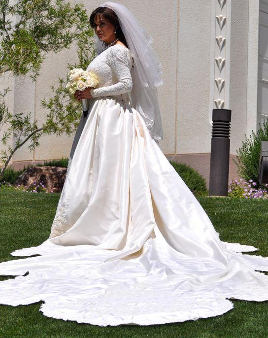 Marie Osmond Wedding Dress Train