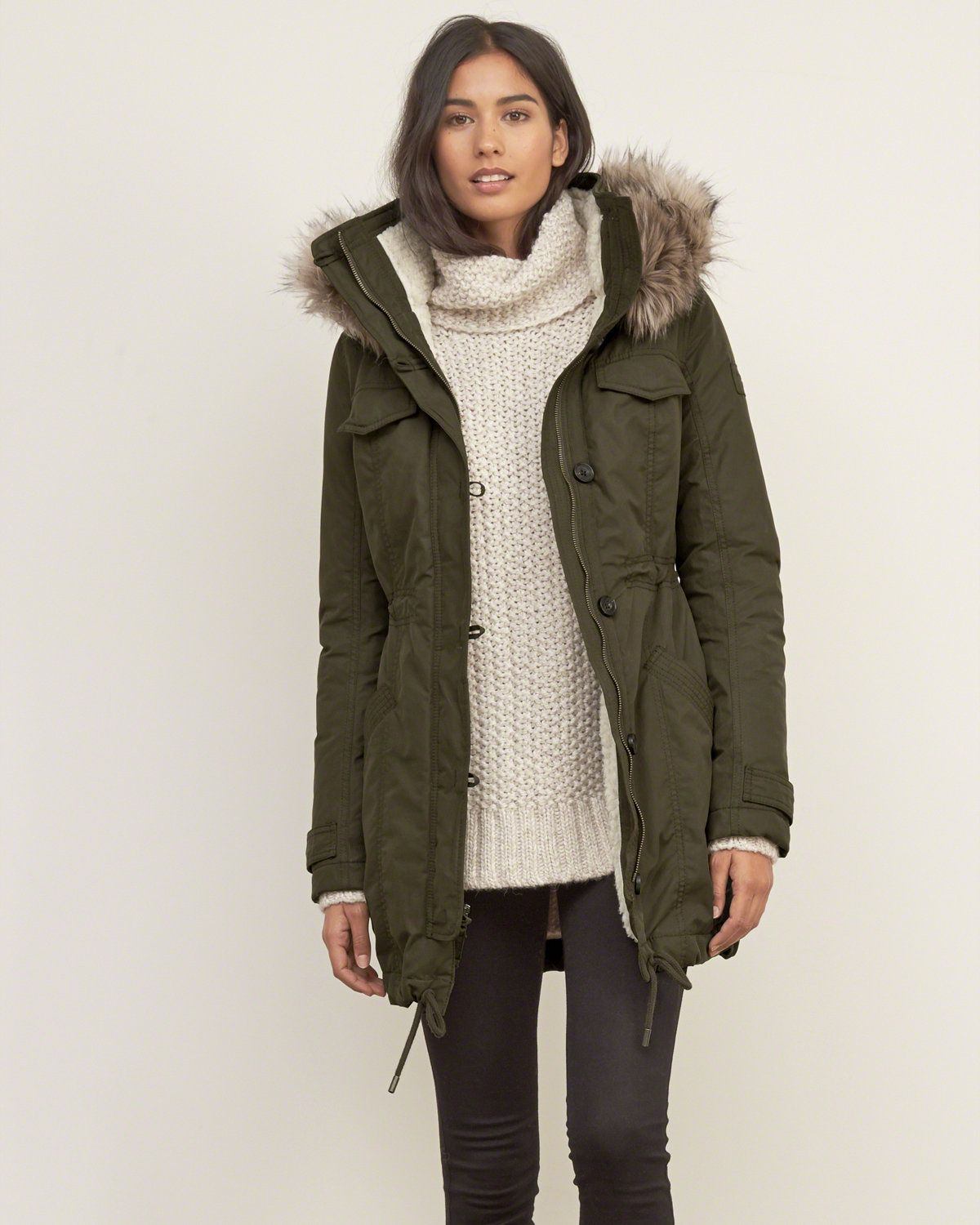 Lined Military Parka