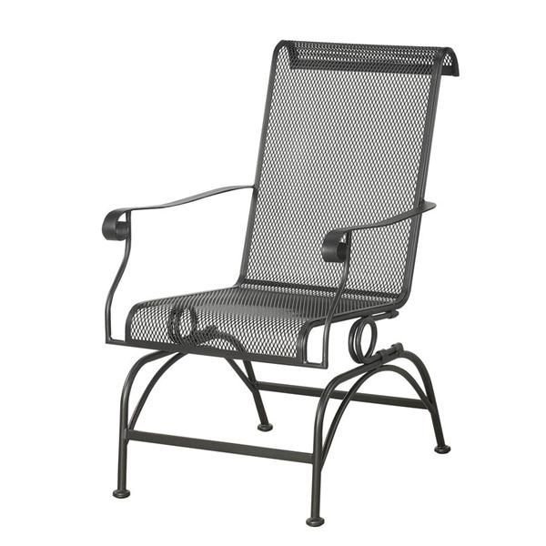 Courtyard Creations 2 Pack Dixon Wrought Iron Rocker Patio Dining