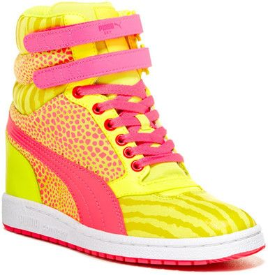e48255e0bfb4 Puma Sky Wedge Reptile High Top Sneaker on shopstyle.com.au ...