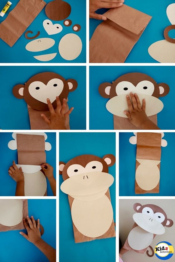 Monkey Paper Bag Puppet With Free Template How To Make It Zoo