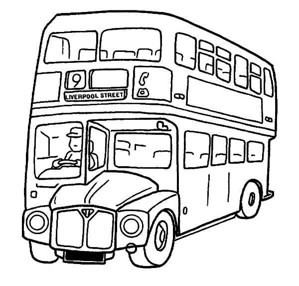 City Double Decker School Bus Coloring Pages Netart Coloring Pages Free Coloring Pages Flag Coloring Pages