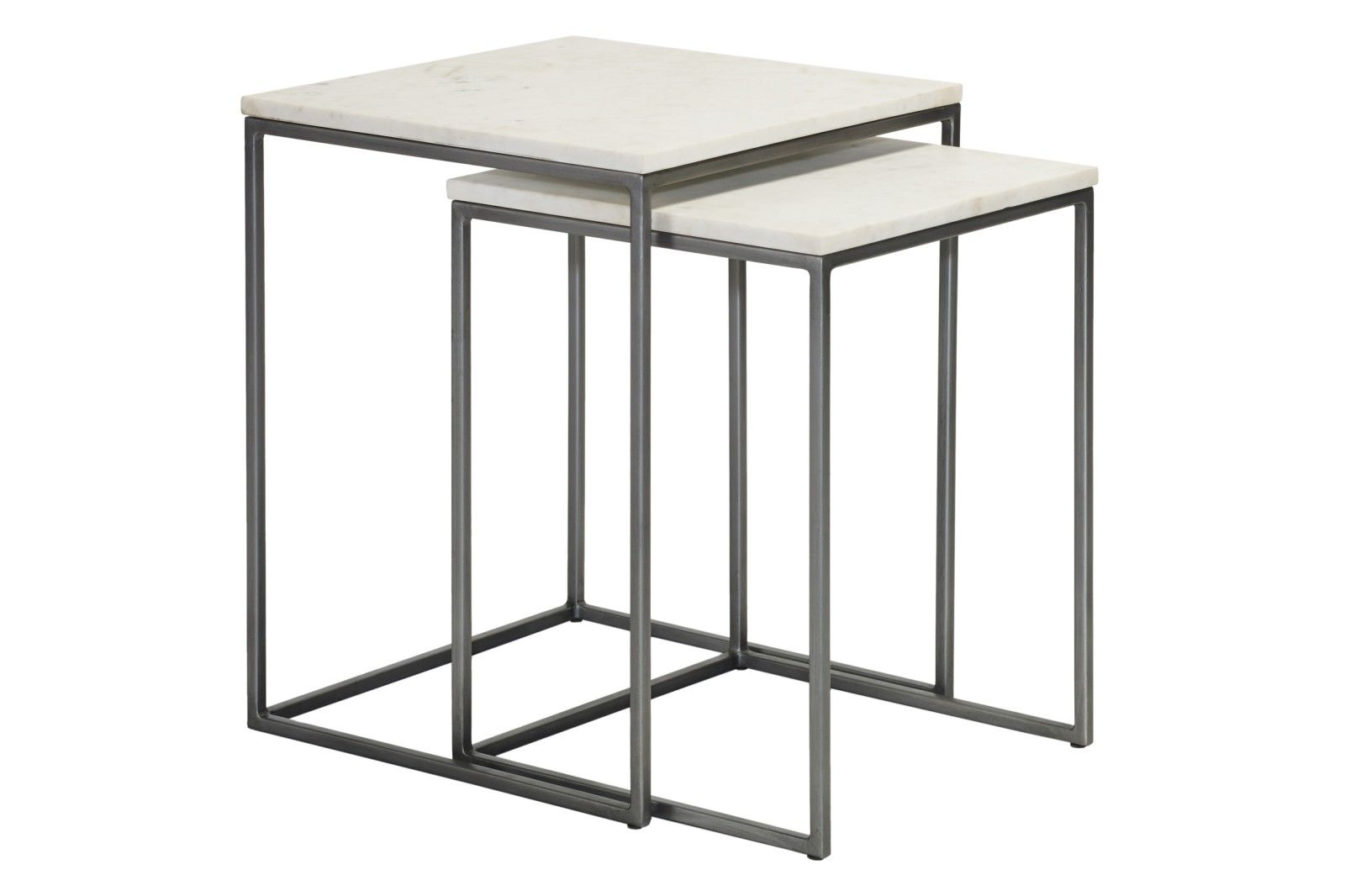 Chelsea Nest Of Two Square Side Tables In 2020 Square Side Table Coffee Table Rectangle Table