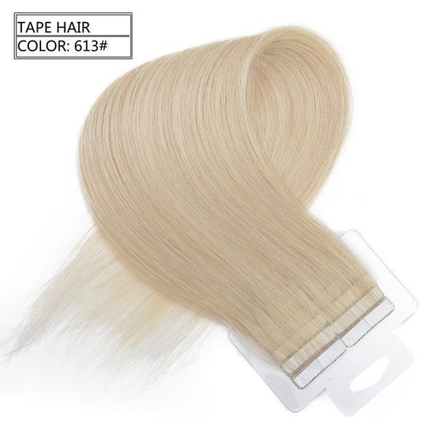 Neitsi Russian Straight Skin Weft Hair Tape In Remy Human Hair