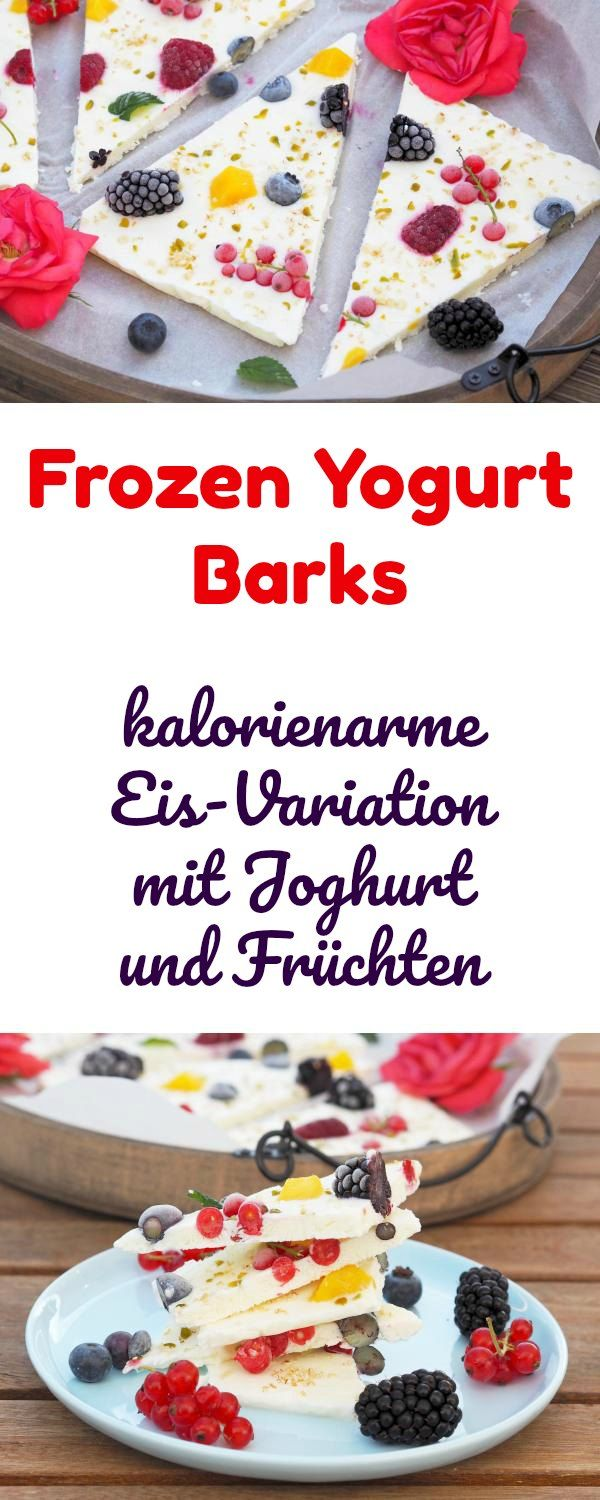 frozen yogurt barks rezept all the yummilicious recipes pinterest griechischer joghurt. Black Bedroom Furniture Sets. Home Design Ideas
