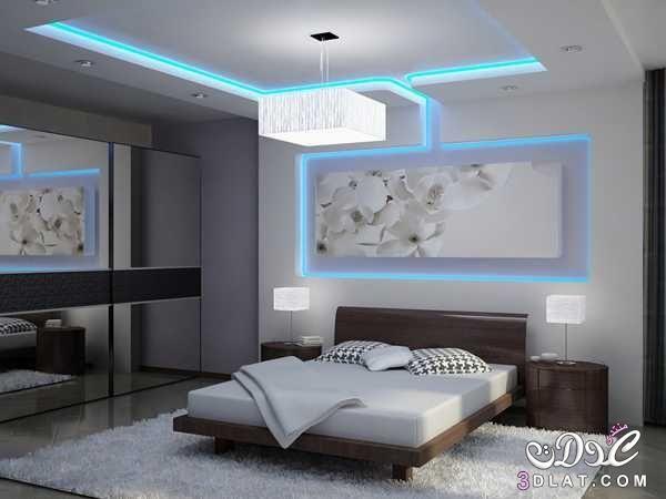 ديكورات جبس مودرن 2019 بورد غرف نوم مجالس صالونات اسقف وحوائط معلقة ديكورات جبسية لشقق Modern Bedroom Lighting False Ceiling Bedroom False Ceiling Living Room