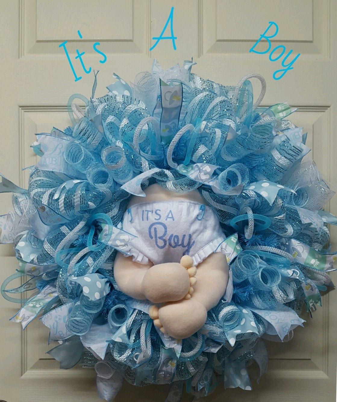 Baby Announcement Wreath Nursery Wreath Baby Shower Wreath Baby Wreath Door Door Wreath