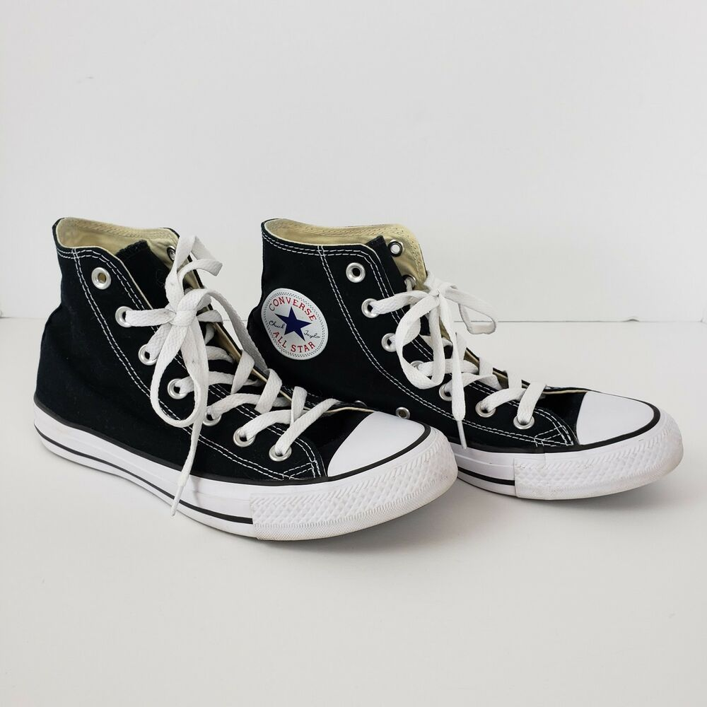 d05c947a7421 Converse Chuck Taylor All Star Sneakers Black White Shoes Unisex Men 6  Women 8  ConverseChuckTaylor  Athletic