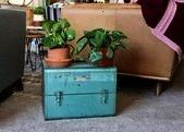 tool box Craftsman tool box Industrial side table Industrial   SheLi Sears turquoise tool box Craftsman tool box Industrial side table Industrial   SheLi  Craft77  Sears...
