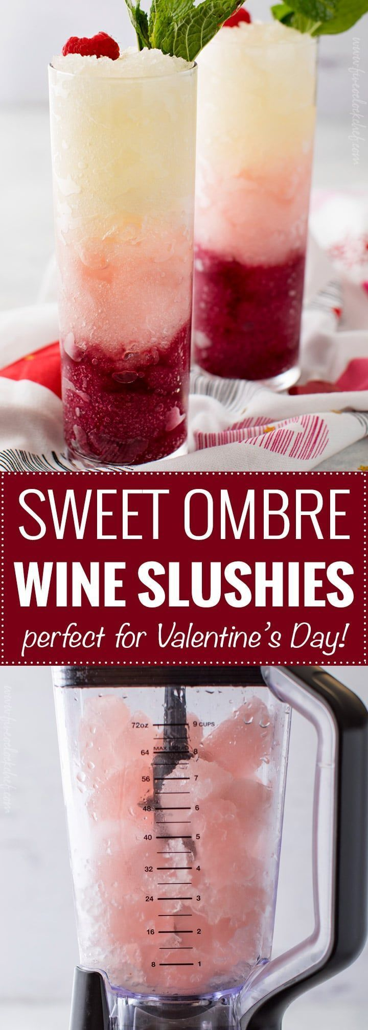Sweet Ombre Wine Slushies Three Types Of Sweet Wine Are Frozen Into Ice Cubes Blended And Layered To Create A Drink That S Wine Slushie Slushies Sweet Wine