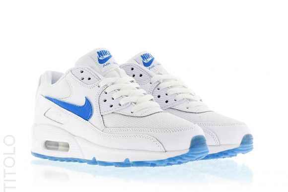 Nike Air Max 90 GS Glow in the Dark WhitePhoto Blue
