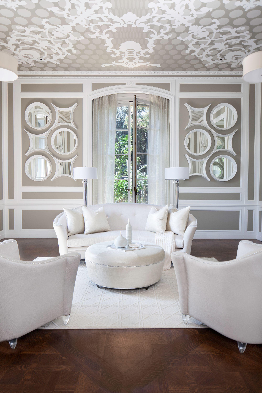 Michael Amini #white #livingroom #interiordesign | Living room ...
