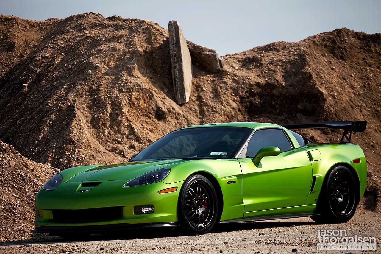 Green Monster Corvette Z06 Photo Shoot Corvette Corvette Z06 Dream Cars
