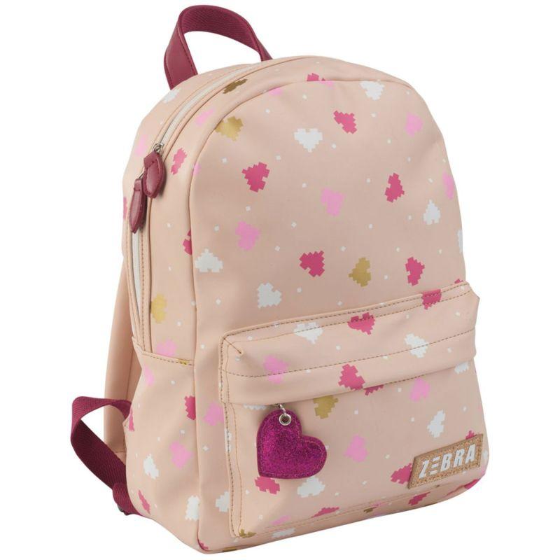 4983048682f Zebra Trends Rugzak Pixel hart Pink Kinder rugtasje van Zebra. Deze stoere  meisjes rugzak is