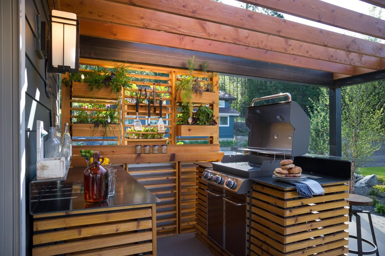Outdoor Kitchen Pictures From DIY Network Blog Cabin 2015 | Outdoor ...