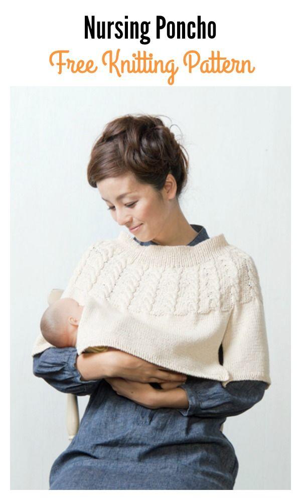 Nursing Poncho Free Knitting Pattern   Pinterest   Poncho de ...