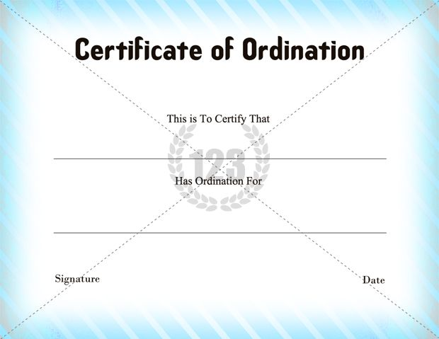 photograph relating to Printable Ordination Certificate called Certification of Ordination Template Down load - 123Certification