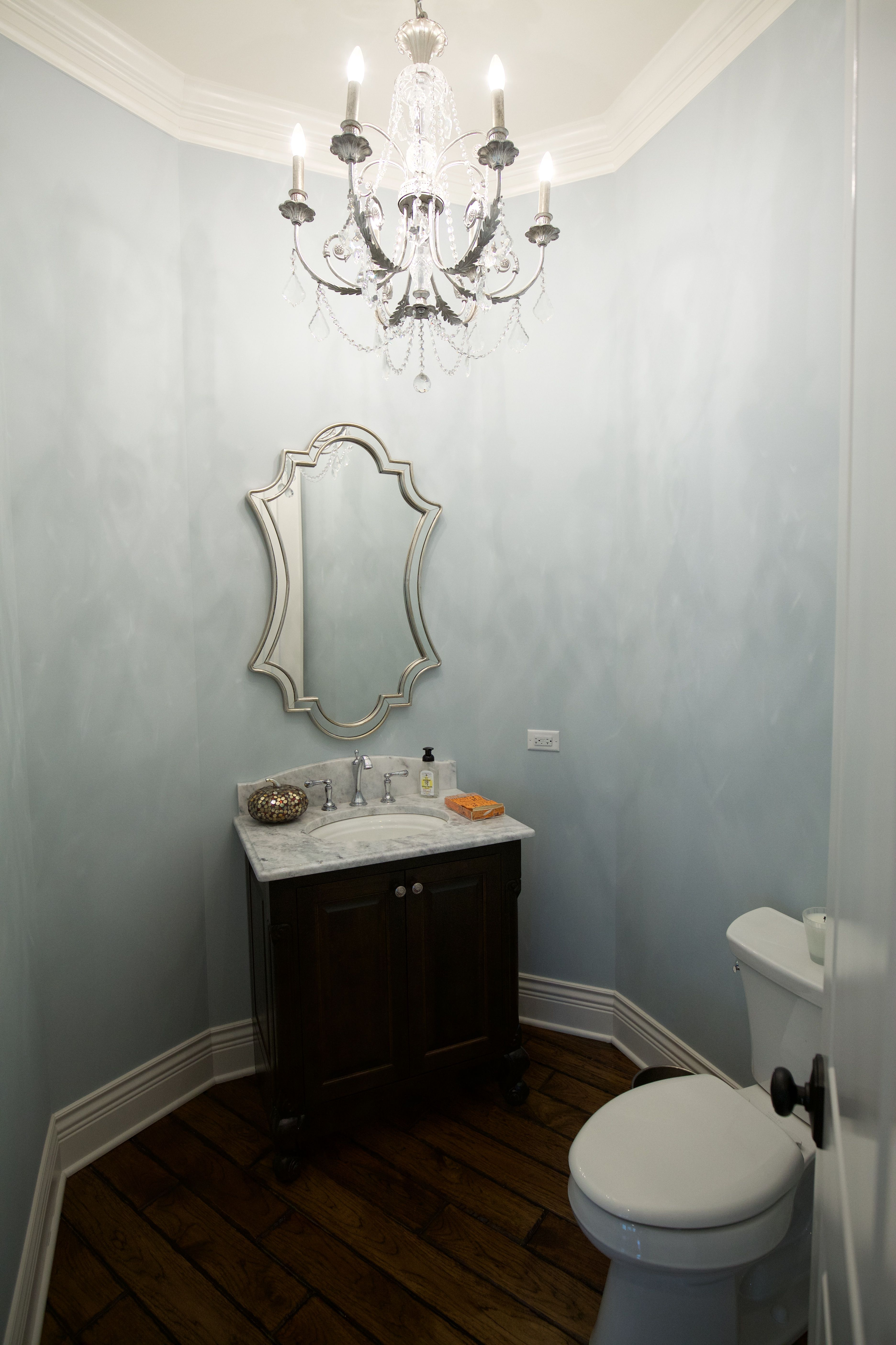 Powder Room   Architect: Meyer Design, Naperville, IL Builder: Lakewest Custom Homes, Naperville, IL