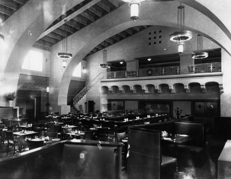 Interior View Of Harvey House Union Station Graphic Harvey House Union Station Architect