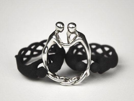"""2Gether"" ring by Studio Mango"
