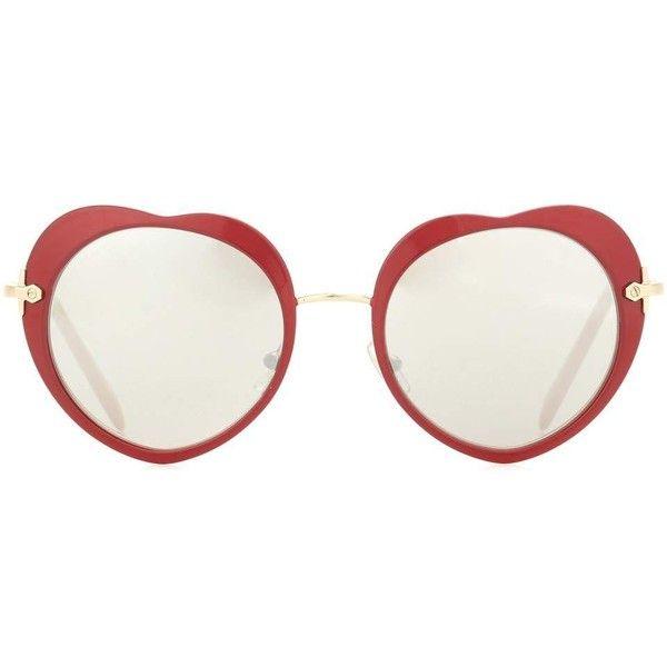 249f05ca1ae Miu Miu Heart Sunglasses (1.260 RON) found on Polyvore featuring women s  fashion