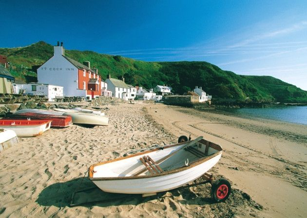7 beaches in North Wales that you should visit #visitwales Beaches in North Wales. The Ty Coch Inn at Porthdinllaen.  Crown copyright. Visit Wales. #visitwales