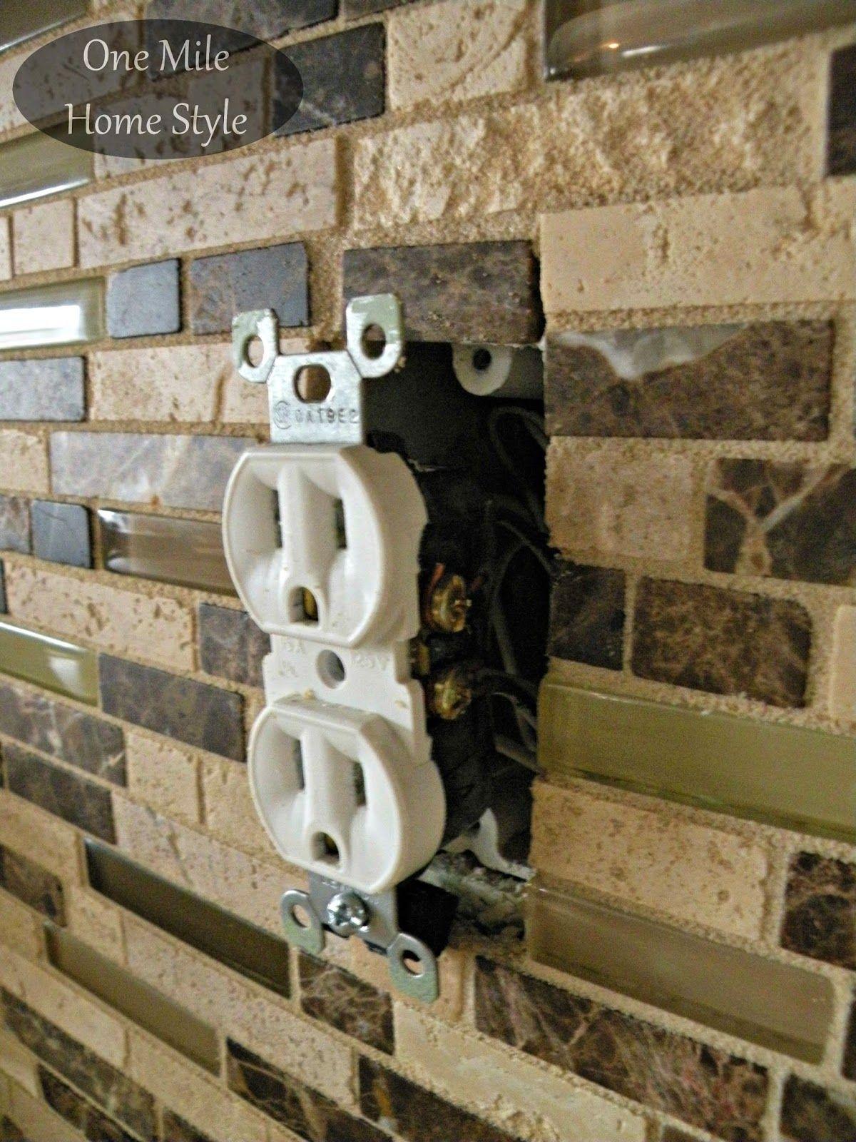How To Adjust Outlets After Tiling Diy Fixes Pinterest Tiles Electrical Wiring On Home Adjusting
