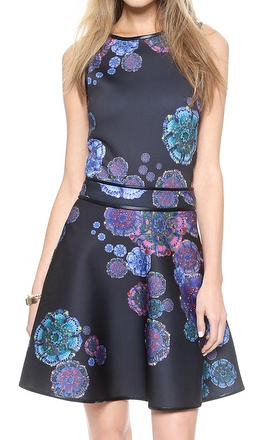 moon flower crop top with matching skirt  http://rstyle.me/n/sj826pdpe