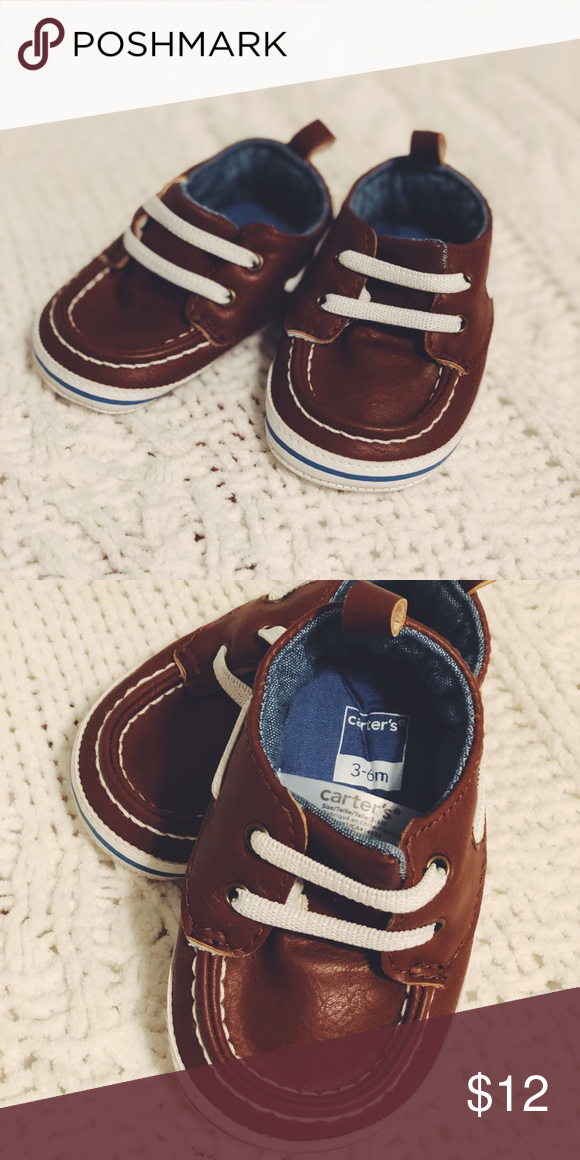 6f0fb938162 Carters baby boat shoes Carters brand baby boy boat shoes. Size 3-6 months.  Barely worn