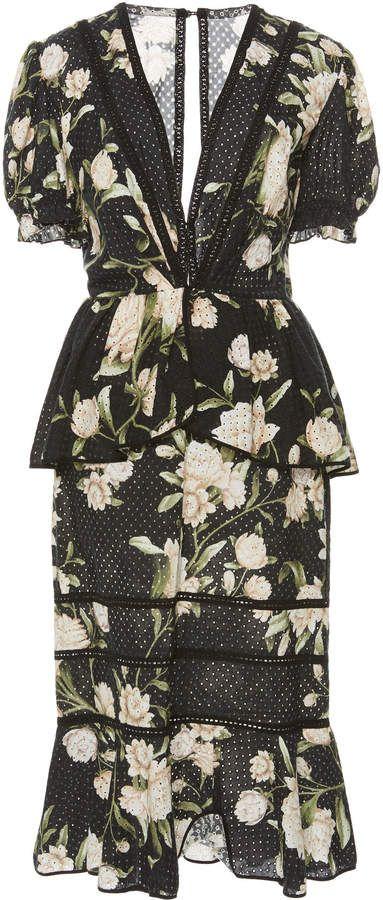 cecad4c1178 Johanna Ortiz Oriental State Floral Cotton Eyelet Dress