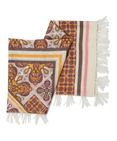 Take a look at this Natural Malanda Square Merino Wool Scarf by EMU Australia on #zulily today! $35 !!