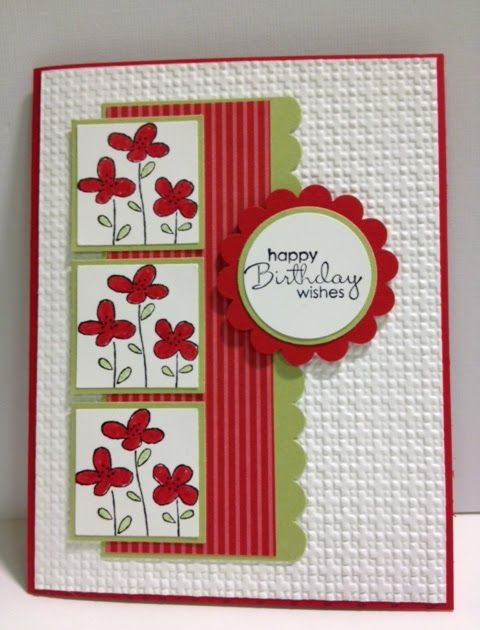 easy events birthday card  embossed cards floral cards