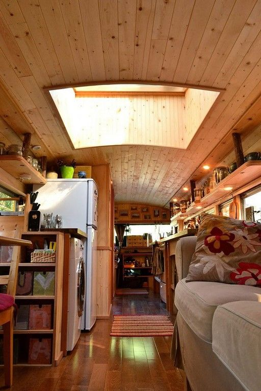 School Bus Camper Wood Interior (19)