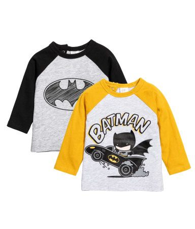 cd1277000 Gris claro Batman. Camisetas en punto suave de algodón con motivo  estampado. Modelo de manga larga con botones de presión en la nuca.