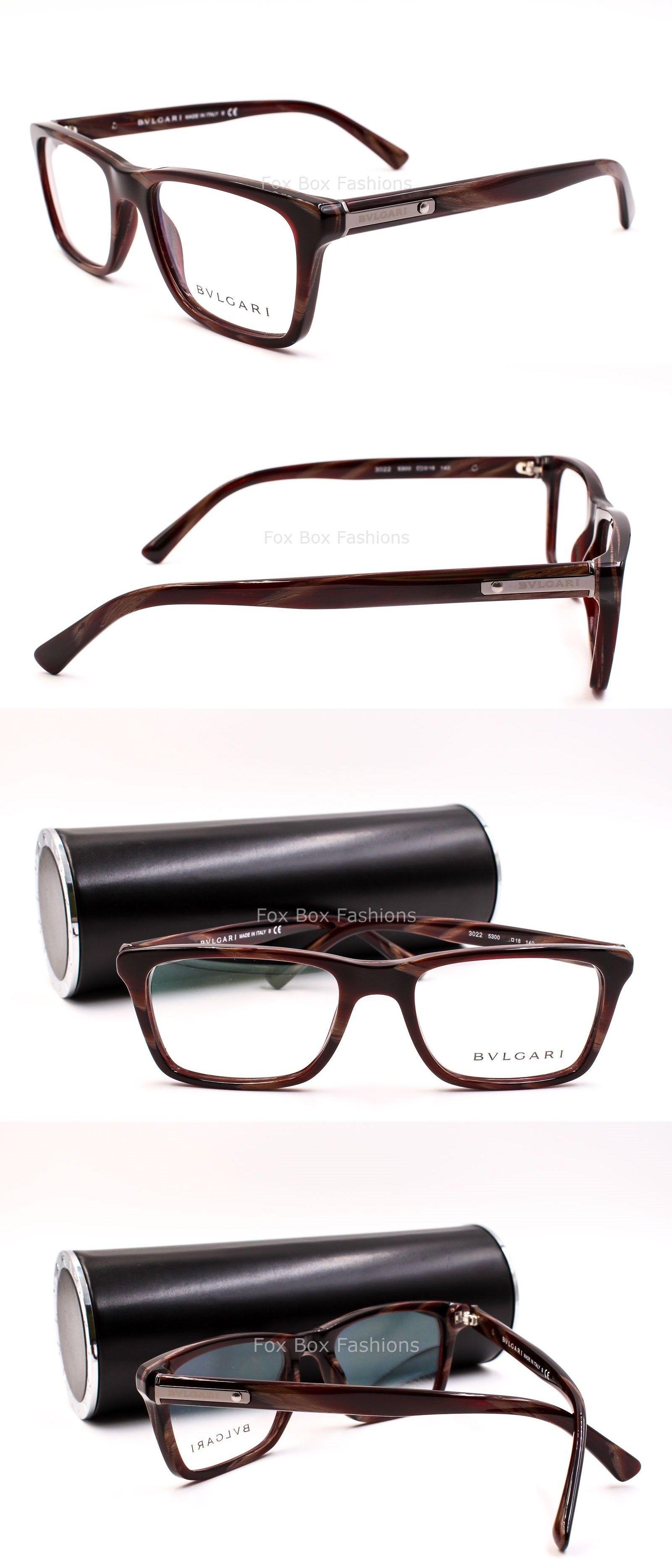 eyeglass frames bvlgari 3022 5300 men s eyeglasses optical frames glasses brown red horn - Ebay Eyeglasses Frames