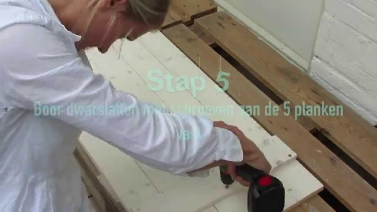 Bureau maken van ikea ladeblokken & steigerhout pinterest