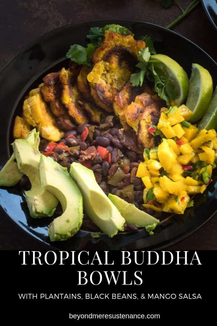 Tropical Buddha Bowls with Plantains, Black Beans, and Mango Salsa images