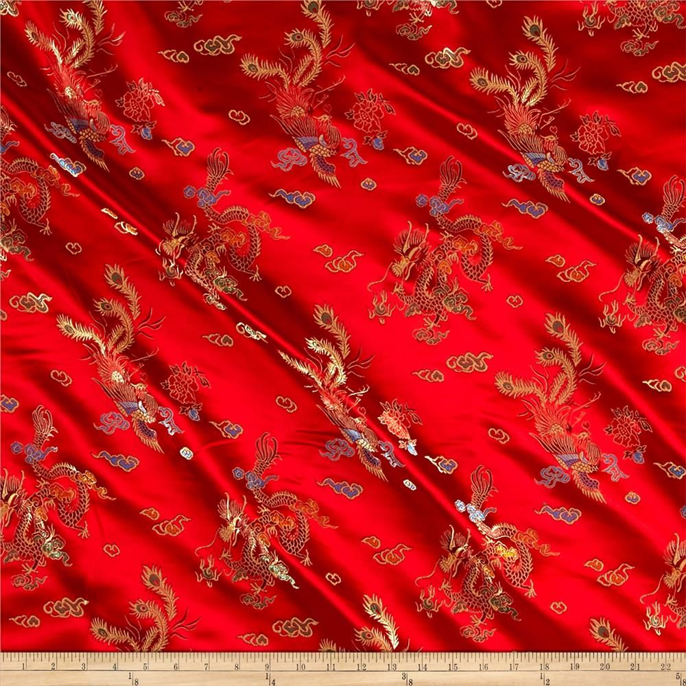 65f6658ec Chinese Brocade Sateen Dragon Red from @fabricdotcom This jacquard cotton  sateen fabric is lightweight and…