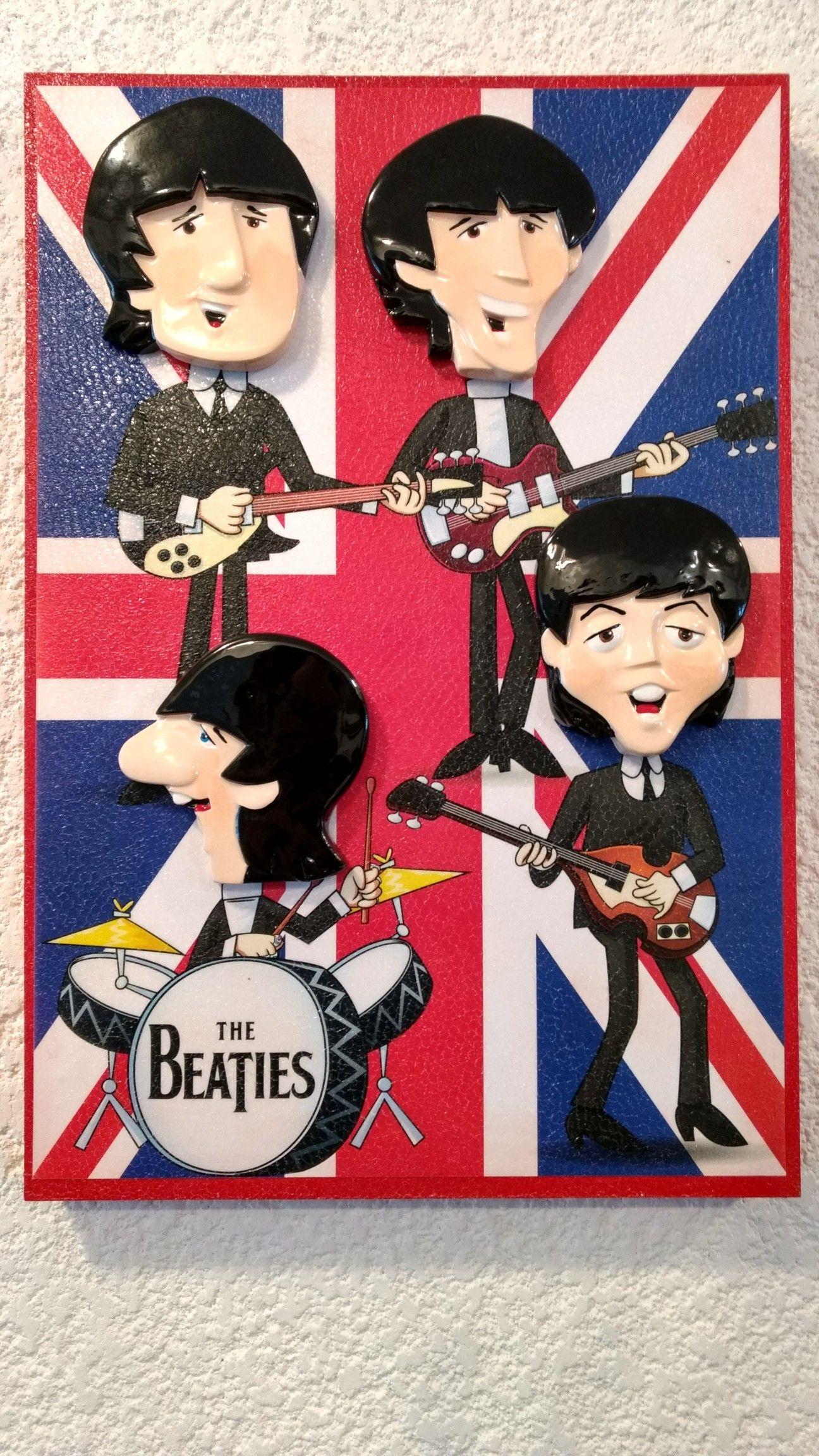 Figuras Beatles MX póster Beatles bandera inglesa (con imágenes ...