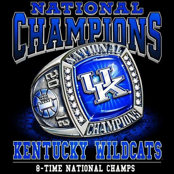 Championship Ring Kentucky Wildcats Basketball National Champs Big Blue Nation