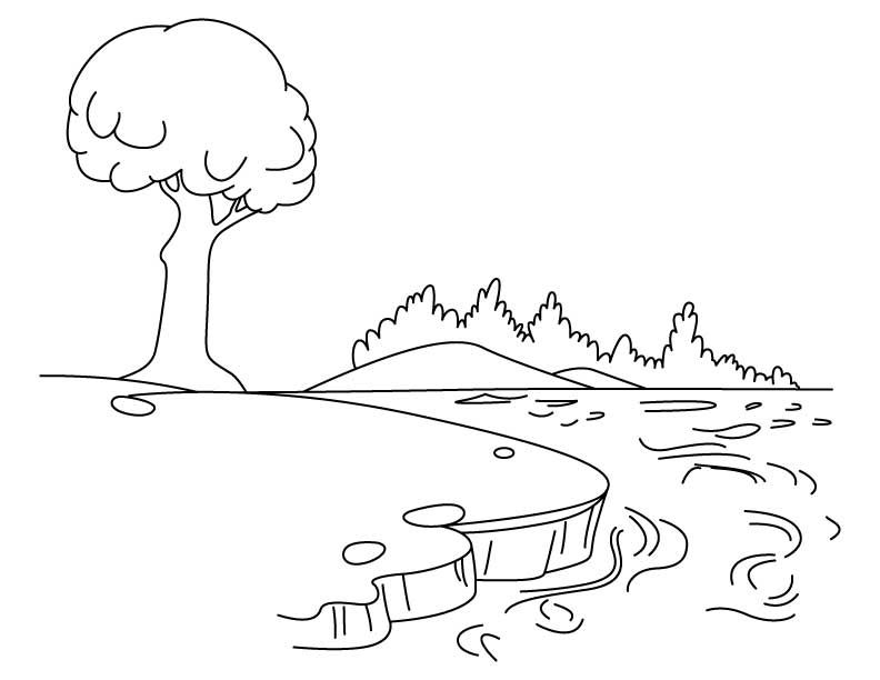 Image Result For Lake Scene Coloring Page Coloring Pages